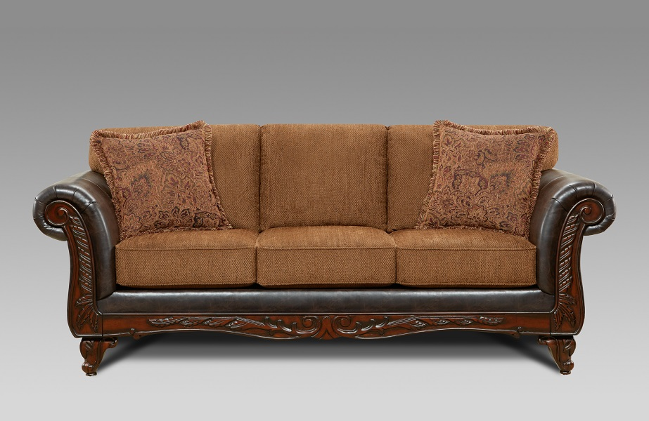 Affordable furniture wink chestnut sofa for Affordable furniture greenwood in