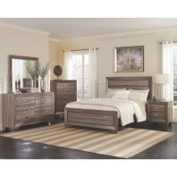 Coaster Kaufman Washed Taupe 4 Piece Bedroom Set