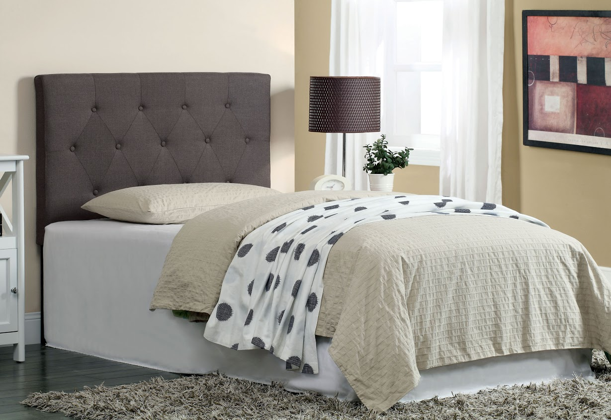 Furniture of America Gray Upholstery Bed