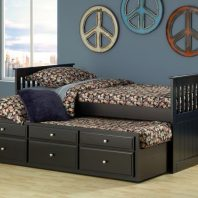 13056 Blk Capt Bed with trundle