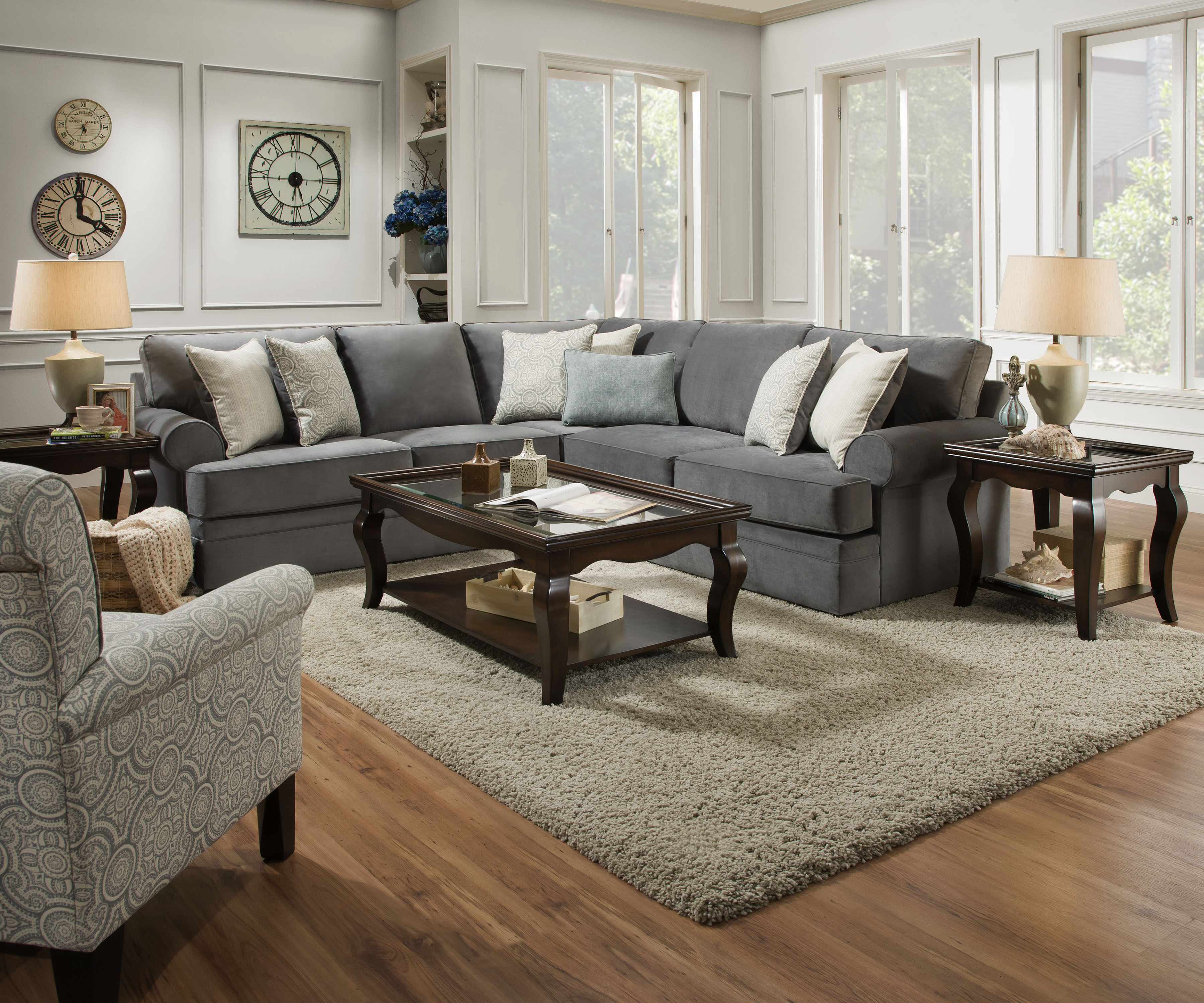 Simmons Bellamy Slate 2 Piece Sectional