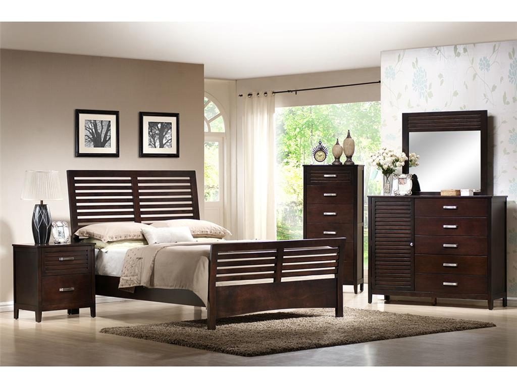 Elements International Dalton 4 Piece Queen Bedroom Set