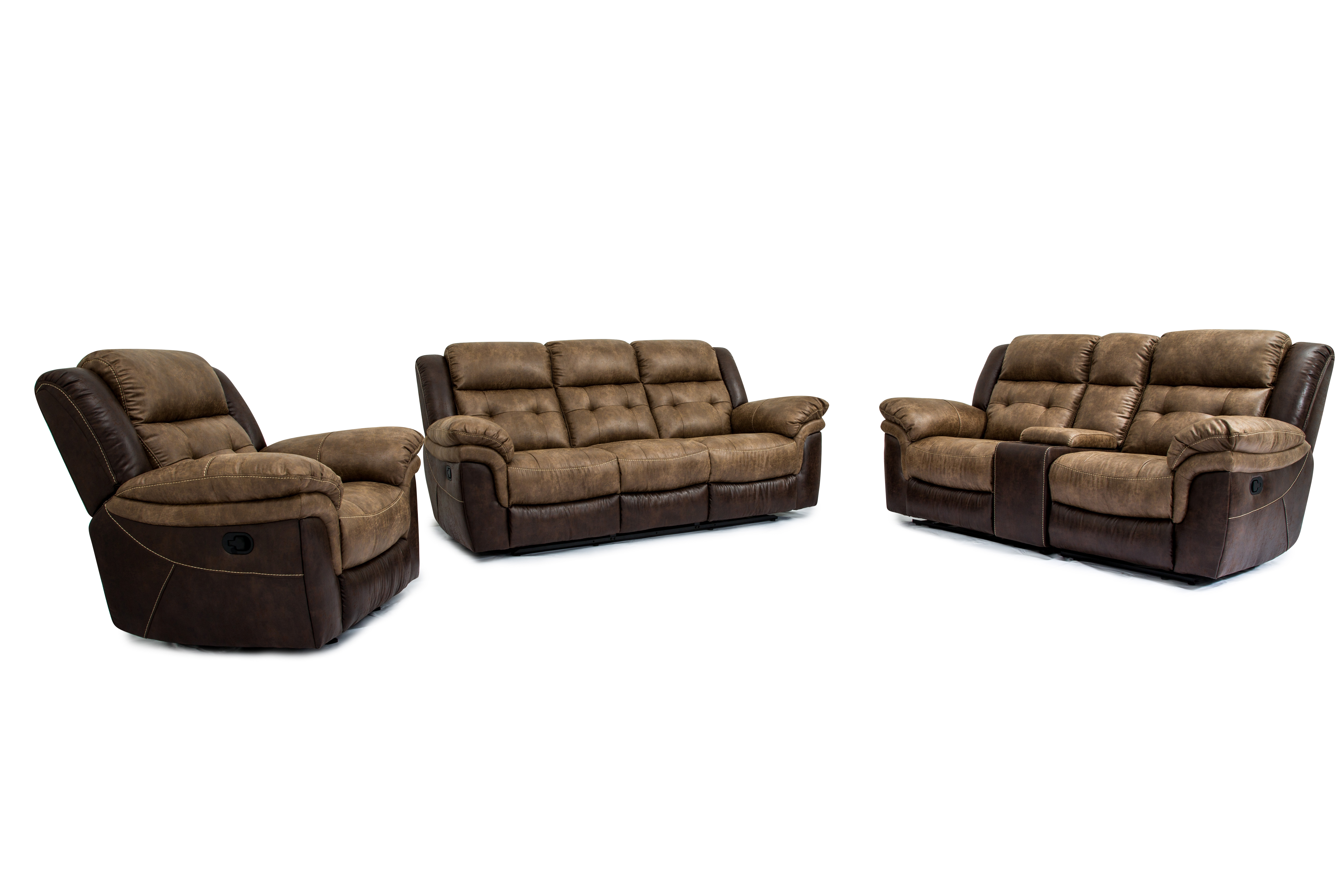 Simmons Granite Double Motion Reclining Sofa And Loveseat