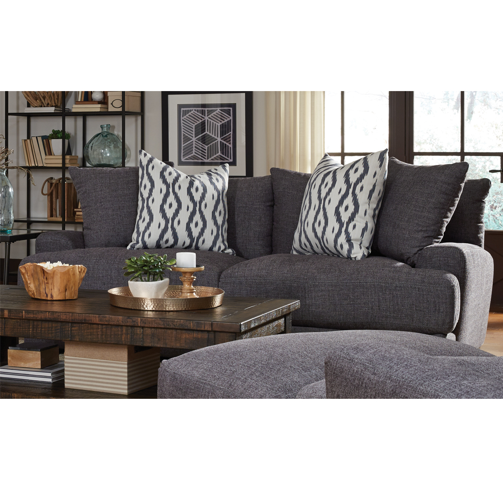Franklin corp journey charcoal sofa for Affordable furniture greenwood in