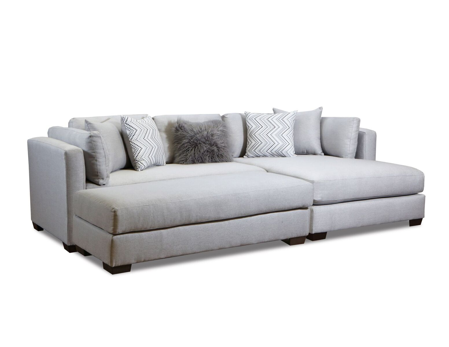 American Furniture Parker Silver 2 Piece Sectional