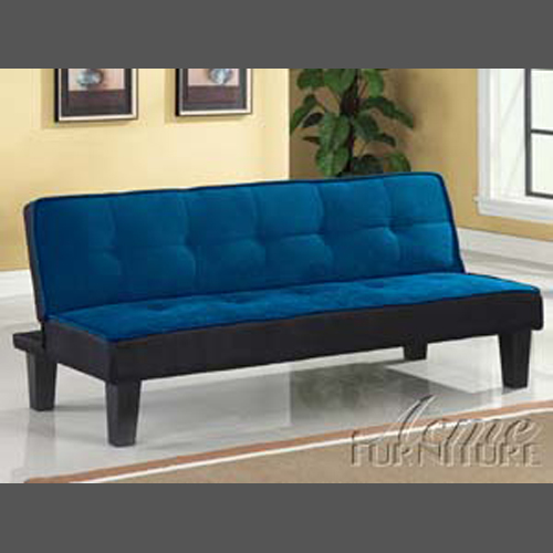 Acme Furniture Hamar Blue Microfiber Adjustable Sofa
