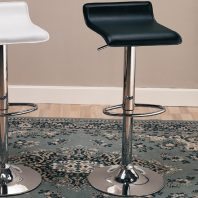 Coaster Black Adjustable Barstool