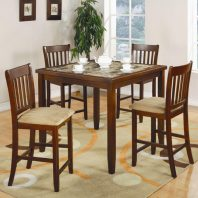 Coaster Marble/Cherry 5pc Dinette