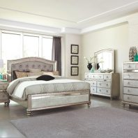 Coaster Metallic Platinum Queen 4 Piece Bedroom Set