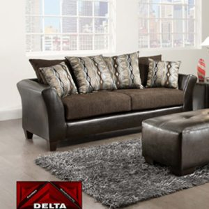 Delta Furniture Chocolate Sable Sofa