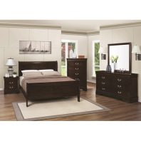 Coaster Cappuccino 4 Piece Queen Bedroom Set