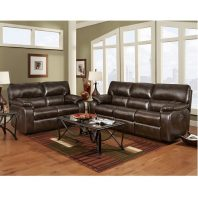 Affordable Furniture Canyon Chocolate Reclining Sofa U0026 Loveseat