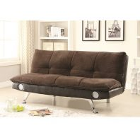 Coaster Brown Sofa Bed With Bluetooth Speakers