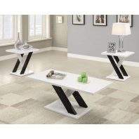 CT/701011 WHITE & BLACK 3 PC OCCASIONAL SET
