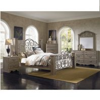 SF/52652/60/59/68/55 TIMBER CREEK 4 PC BEDROOM SET