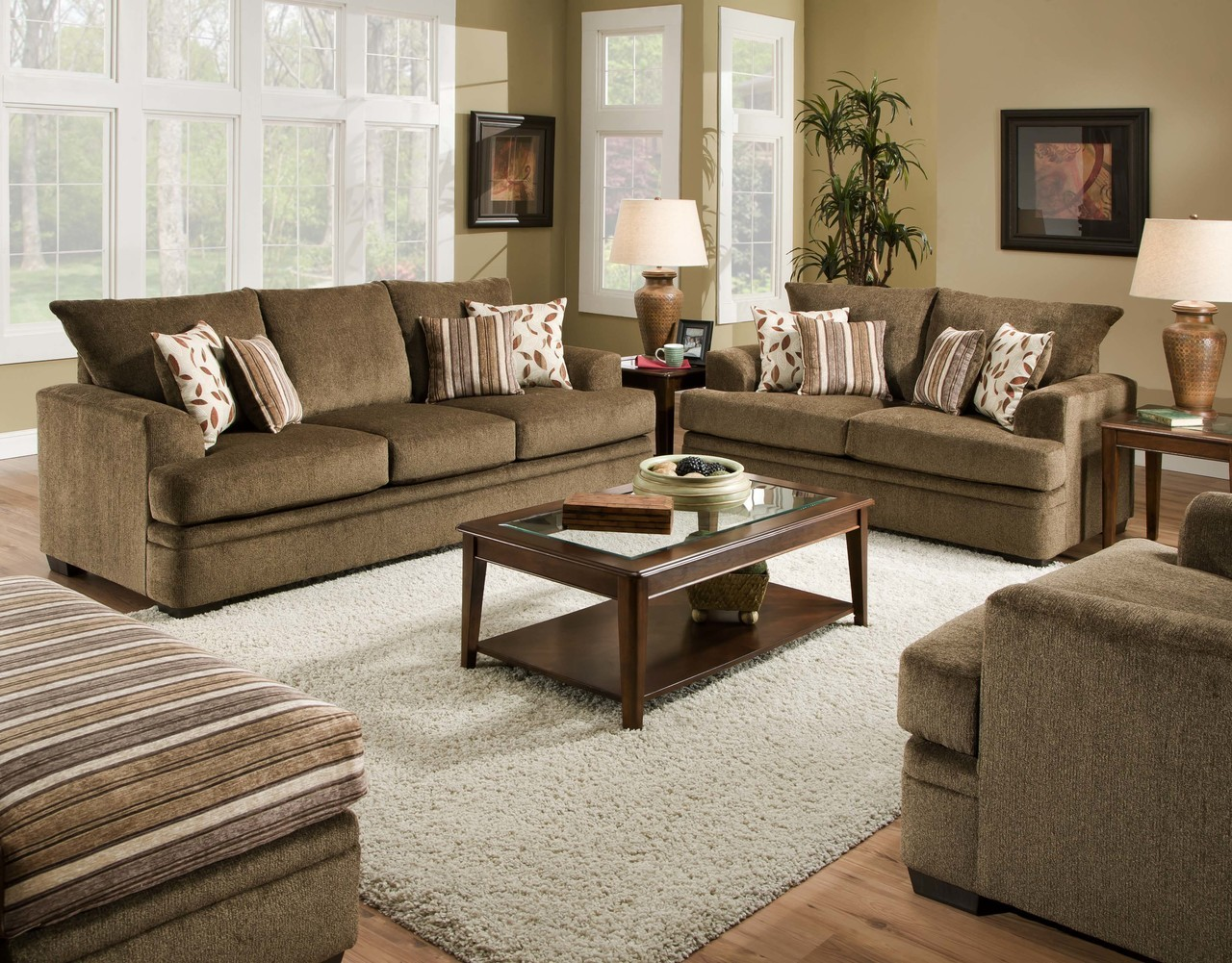 Remarkable Cornell Cocoa Sofa Loveseat Home Interior And Landscaping Eliaenasavecom