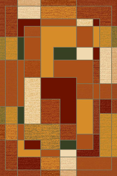 American Cover Design Extacy Rust Area Rug