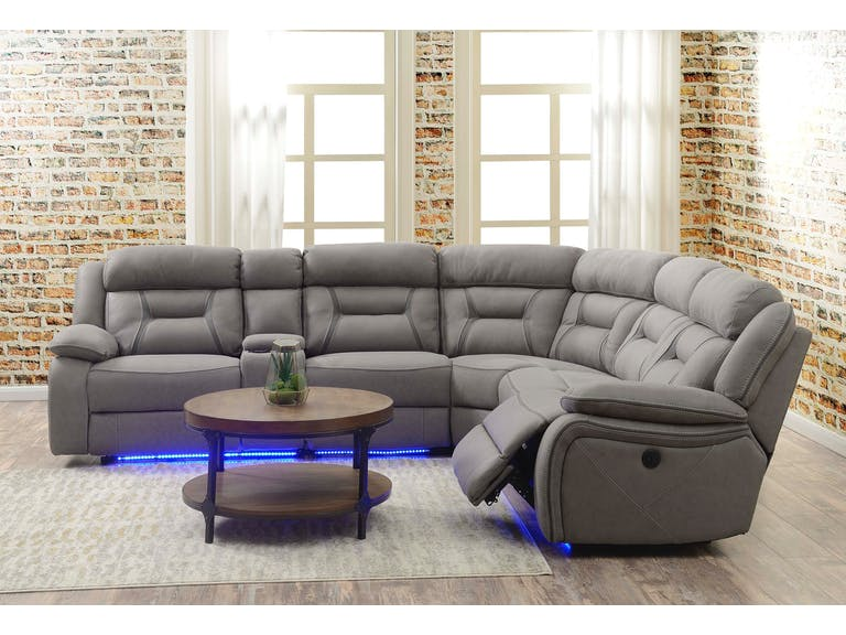 Anderson Prescot Slate Power Reclining 6 Piece Sectional