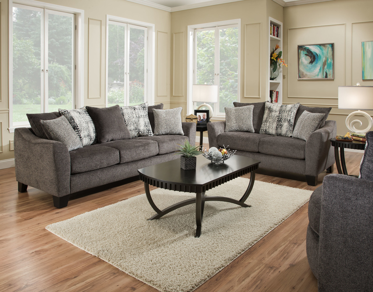 Tremont Slate Sofa And Loveseat