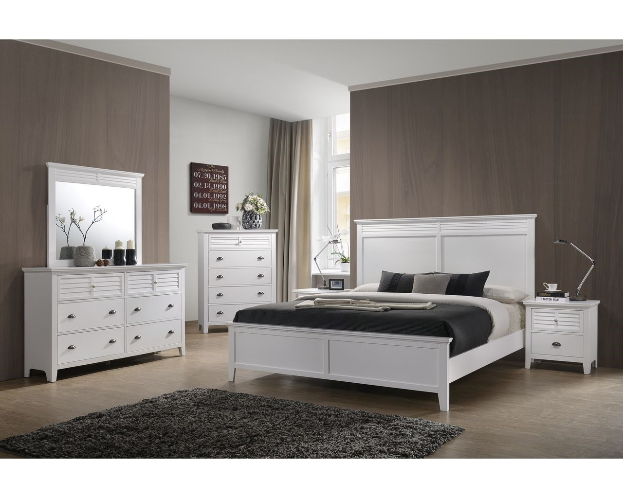 Lifestyle Furniture White Queen Bed