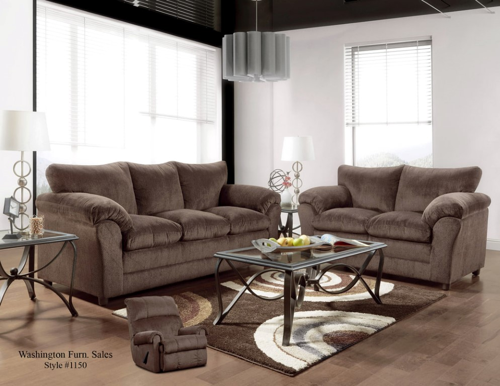 Kelly Chocolate Sofa And Loveseat With Free Recliner