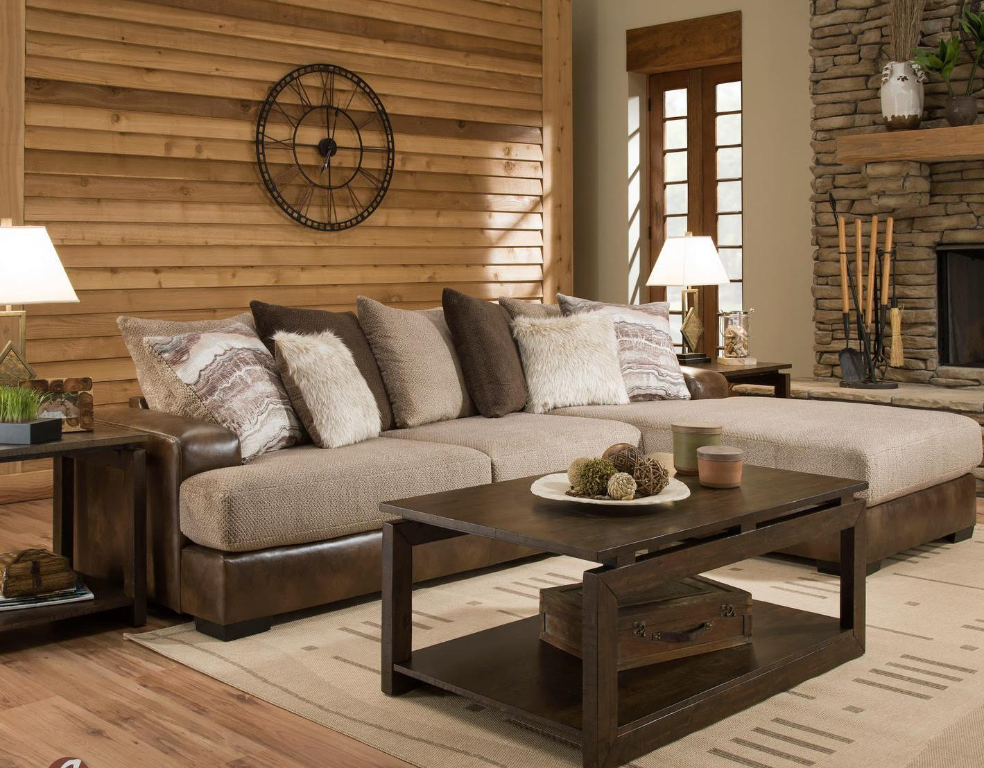 Wesley Toast Gold Rush Cafe 2 Piece Sectional