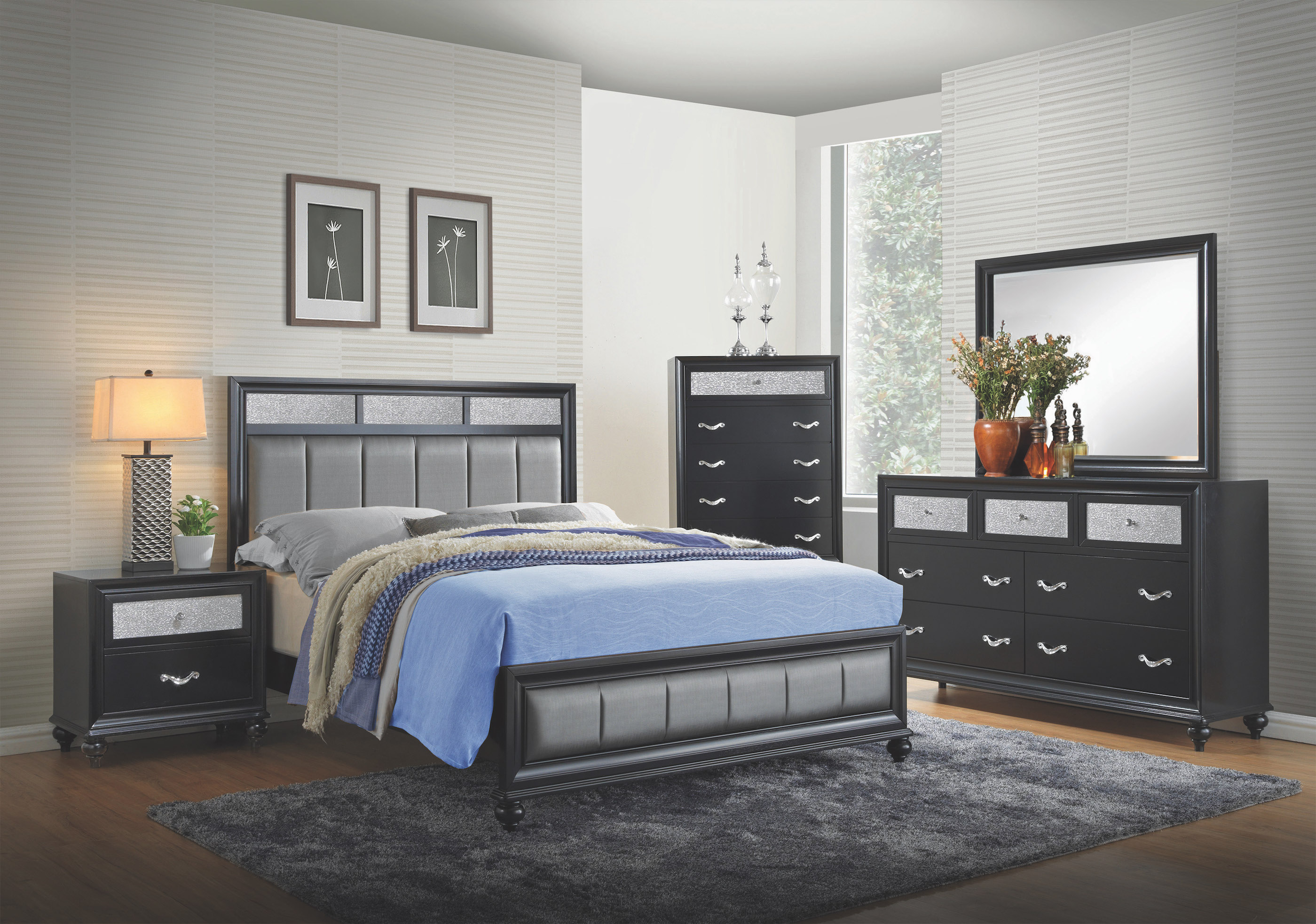Coaster Barzini 4 Piece Queen Bedroom Set