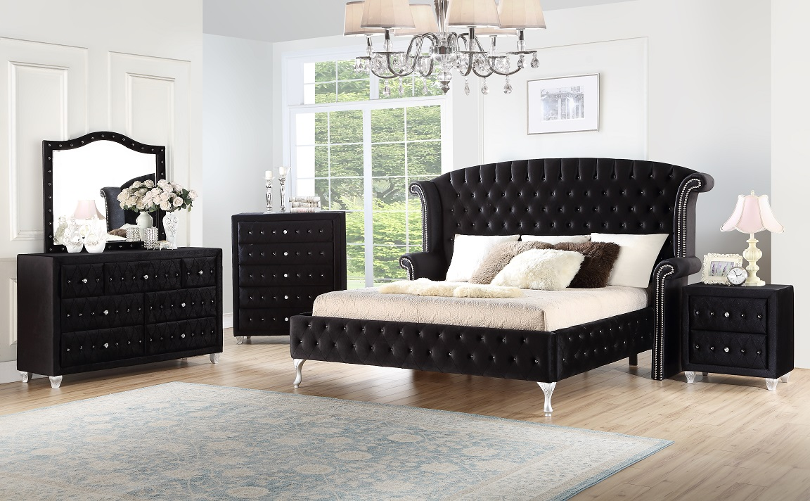 Black Panther 4 Piece Queen Bedroom Set