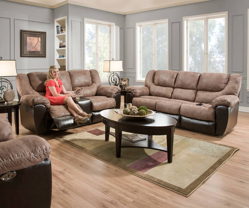 Astonishing Bandera Mocha Double Reclining Sofa And Loveseat Beutiful Home Inspiration Cosmmahrainfo