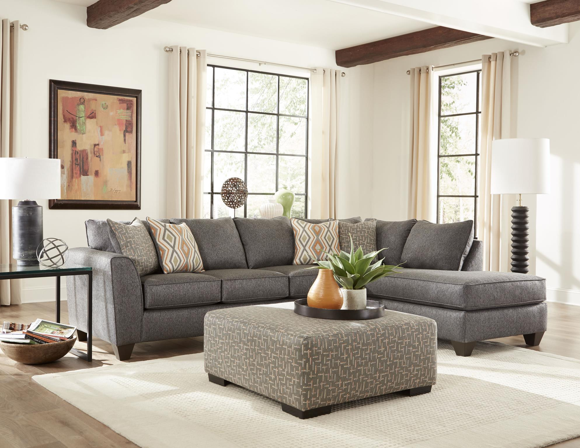 Cripton Graphite 2 Piece Sectional