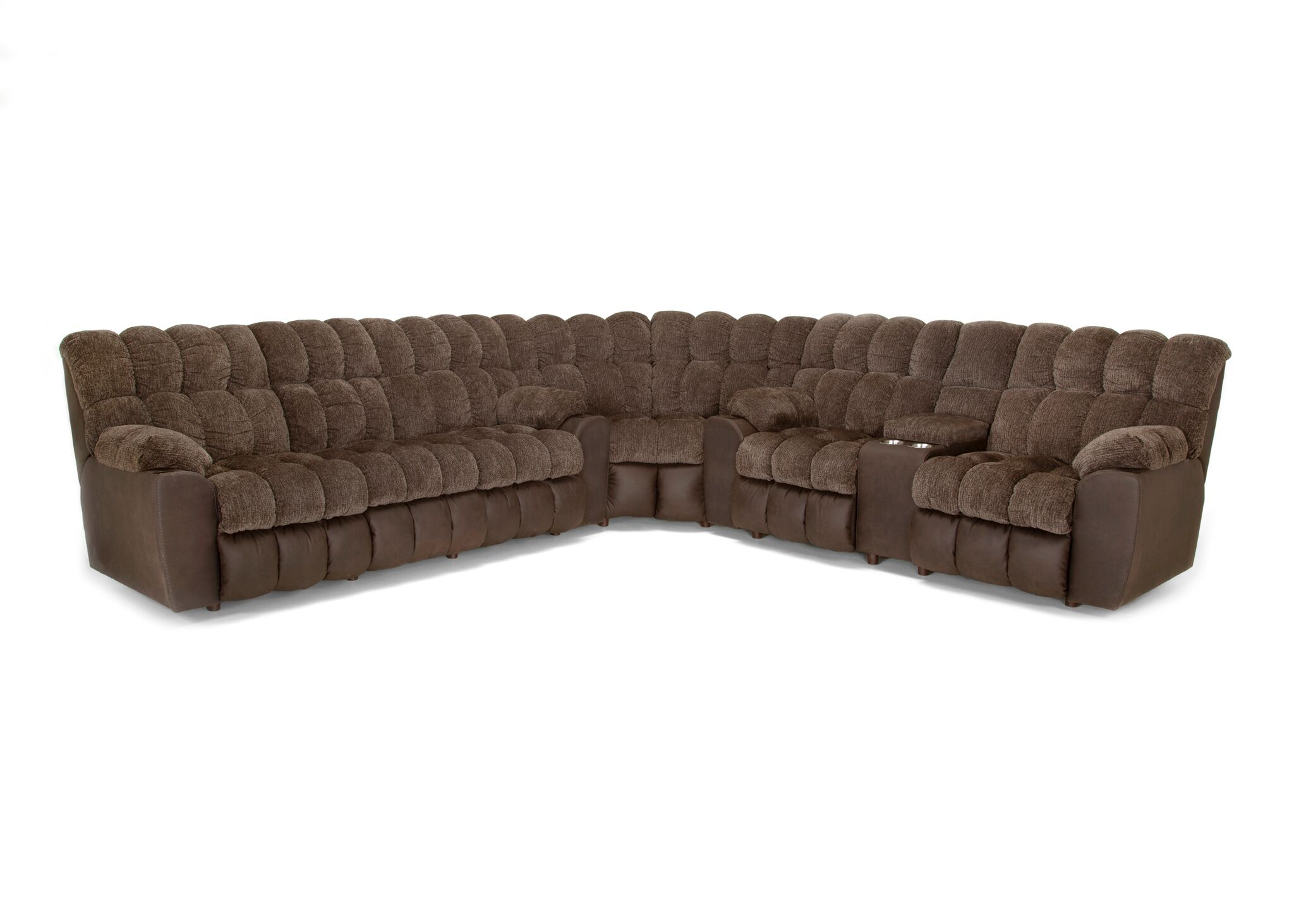 Westwood Chocolate Reclining Sofa And Loveseat With