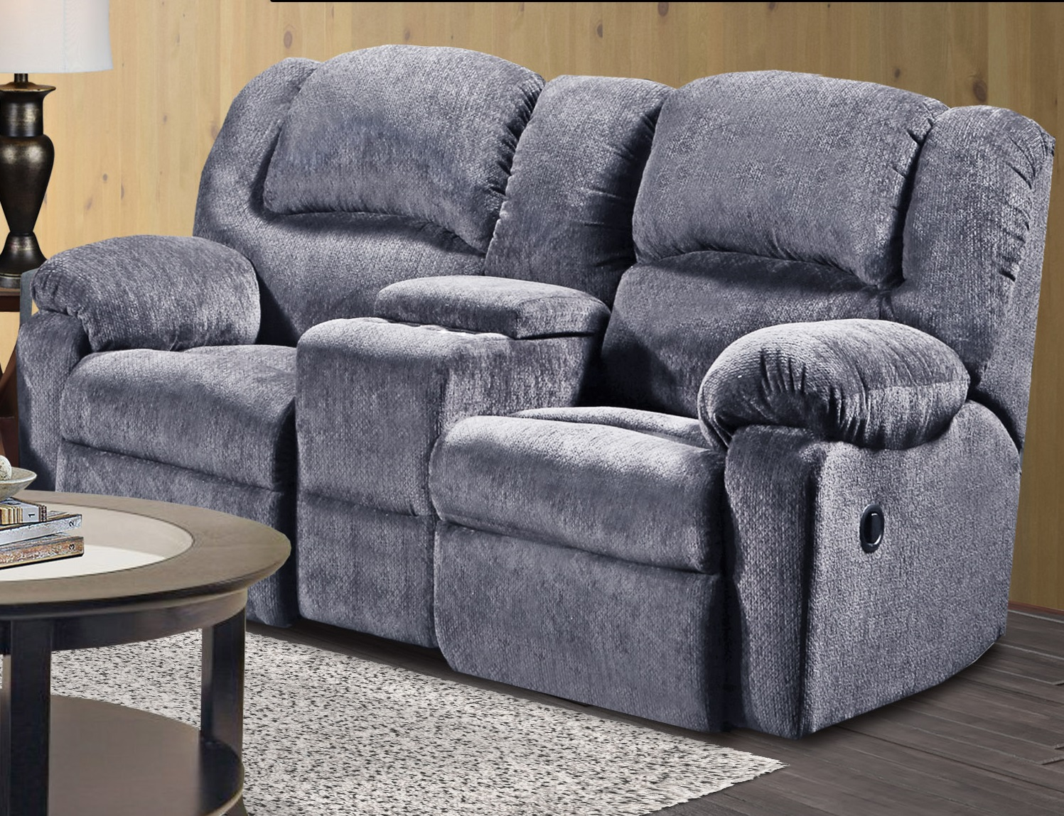 Fabulous Kelly Grey Reclining Loveseat Andrewgaddart Wooden Chair Designs For Living Room Andrewgaddartcom