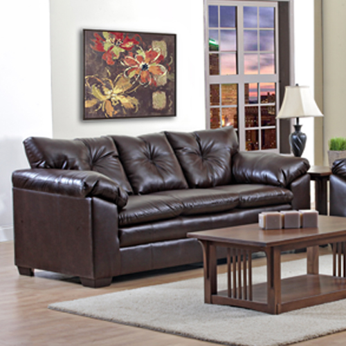 Trinidad brown leather sofa for Living room furniture trinidad