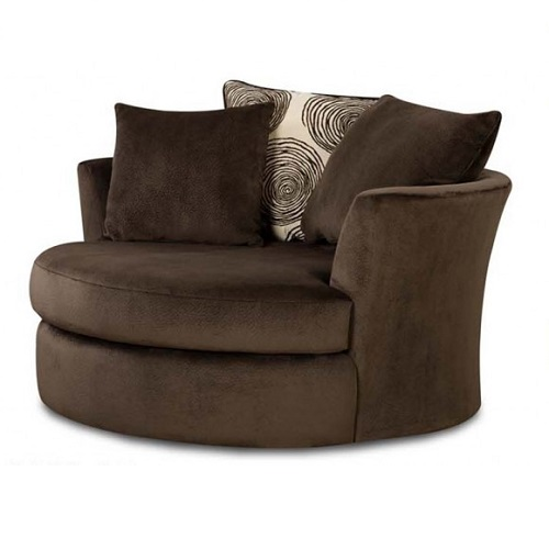 Groovy Chocolate Swivel Chair