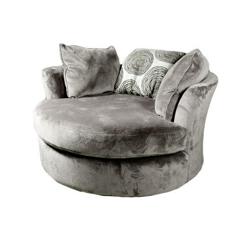Groovy Smoke Swivel Chair
