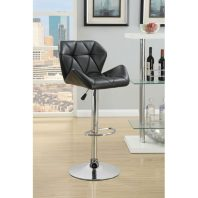 CT/100425 BLACK ADJUSTABLE BARSTOOL