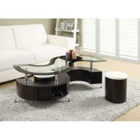 CT/720218 COCKTAIL TABLE w/ 2 OTTOMANS