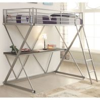 CT/400034T SILVER TWIN BUNKBED W/ WORKSTATION