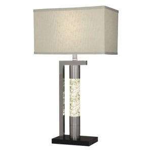 "ANT/M1759CH/123 METAL-SAND CHROME 29"" TABLE LAMP / NIGHT LIGHT"