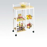 AC/02668 SITERA WHITE KITCHEN CART